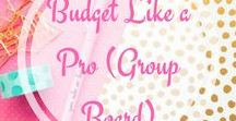 Budget Like a Pro-Group Board / Pin anything that has to do with Budgeting, Making Money, Saving Money, or anything that helps others obtain their financial goals. Please share others content if you contribute. If you would like to be added please- 1. Follow the board as well as myself. 2. Subscribe to my blog at www.perfectlyimperfectfamily.com 3. Email me at raechelleenoland@gmail.com AFTER you have done the first two.