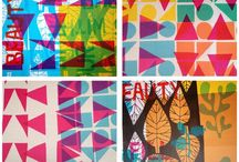 printing on textiles / by Tricia Royal