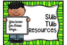 Sub Tub Resources / Good plans and ideas to have in place beforehand! Creating a great sub binder is one of my 'must do' items for the beginning of the year!