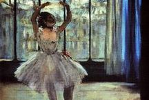 [Art History] Impressionism: Edgar Degas / Edgar Degas was a French artist famous for paintings, sculptures, prints and drawings. He is especially identified with the subject of dance; more than half of his works depict dancers. He is regarded as one of the founders of Impressionism, although he rejected the term, preferring to be called a realist.  His portraits are notable for their psychological complexity and for their portrayal of human isolation