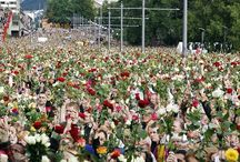 """22. juli / 22 july / """"If one man can create that much hate, you can only imagine how much love we as a togetherness can create"""" - Helle Gannestad"""