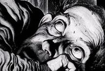 Fantastic Art: Virgil Finlay / Finlay (1914–1971) was a contemporary of H. P. Lovecraft, Robert Bloch and Robert E. Howard. He started his career as an illustrator on 'Weird Tales', went on to create fantastic art for the best genre fiction of his day, (Clark Ashton Smith, H. P. Lovecraft, Ray Bradbury) and for many of the other pulp magazines: 'Fantastic Novels', 'Super Science Stories', 'Thrilling Wonder', and 'Famous Fantastic Mysteries'. He is one of the greatest illustrators of horror, science fiction and Fantasy.