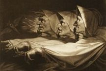 Fuseli's Dark Gothic Fantasy / Supporting board for a new blog article on Henry Fuseli and his Gothic aesthetic.