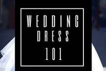Wedding Dress 101 - all you need to know / Before stepping into a dressing room, try and get familiar with the different dress shapes, necklines, fabrics. Click belownto get more info on this topic. https://meyleabridal.com/2011/11/07/wedding-gown-101/