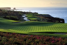 Pinning the Green / Stunning scenery and world-class design are par for the course at Four Seasons golf destinations worldwide.  / by Four Seasons Hotels and Resorts