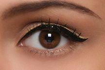 Black,White & Gold Makeup