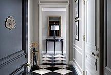 entry, foyer, hallways design / #interiordesign - entry, foyer, hallway inspiration