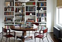 home library or study design / #interiordesign - libraries and home office/study inspiration