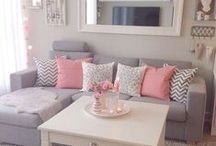 Girly Apartment / Girly apartment, Babe Cave. Cute apartment DIY crafts and decor