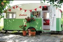 Happy Glamper / I endeavor to purchase a happy little vintage trailer to put up in my forest. Maybe rent it out to happy little travellers who love happy little trailers. Or keep it to myself for an art studio?
