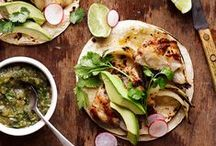 ✲ Mexican Favorites / A collection of Mexican foods from classic to modern & creative recipes.  All kinds of tacos, quesadillas, burritos, and more.