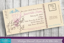 Vintage Travel Boarding Pass Invitations