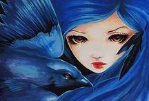 Magpie - Crow- Raven - Black Birds / by Tara Parmer Eastman