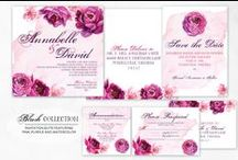 Pink and Purple Watercolor Wedding Invitations / Pink and Purple Watercolor Wedding Invitations designed by Sparkling Events & Designs.    Beautiful wedding inspiration curated by Sparkling Events & Designs
