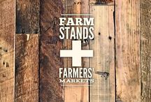 farm stands + farmers' markets