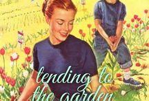 tending to the garden