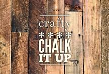 crafty :: chalk it up / DIY chalkboards and how to write on them