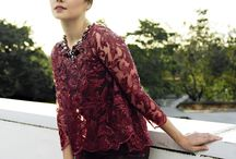 Lace TOP ❤️ kebaya / simple long sleeve lace top, kebaya modern indonesia brokat http://www.eiwaonline.com