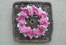 """I crochet Jean Leinhauser's 101 Crochet Squares / These are the squares I crocheted for a crochet-a-long (cal) using Jean Leinhauser's book """"101 Crochet Squares."""" / by Crochetbug"""