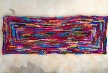 Old-fashioned silk sari throw rug / by Crochetbug