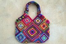 A granny square bag for summer 2015 / My pursuit of a new bag for summer 2015 / by Crochetbug