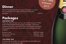 Valentine Menu and Package 2013