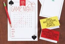 Host a game night! / Great tips on how to host a game night. From games to play, to food to serve, to ways to decorate....we have ideas for you!