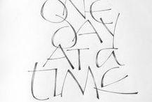 Letterwerk / lettering / by Nelleke van der Wal