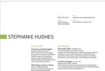 Résumé & Portfolio / Beautiful, creative, smartly designed résumés and ideas for portfolios to display my work.