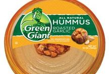 Green Giant Hummus - Sounds Like Yumm to Us! / Are you like us & can't get enough delicious & healthy hummus? Then you will love these other ideas for using it on your favorite foods, or some you may not have tried yet! Try NEW Green Giant Hummus today in the Fresh Produce Department at #MarcsStores in Original, Roasted Red Pepper, Roasted Garlic or Pine Nut!  No Trans-fat, High in fiber, All-Natural, Kosher, Non-GMO