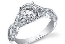 Sylvie Diamond Engagement Rings / diamond engagement rings wedding fashion the big day love living the dream / by Genesis Diamonds