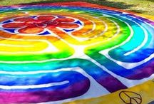 Labyrinths / Twisting, turning, the spiral path of the labyrinth can be found throughout cultures and history. It is the central motif of my book   , The Rainbow Way: Cultivating Creativity in the Midst of Motherhood. / by Lucy Pearce