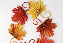 Autumn Craft / Craft ideas and inspiration for kids, home schooling, creating at home, nature tables... To celebrate autumn.