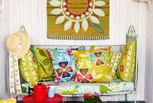 Boho Home / Home decor for creative spirits. Rainbow colours splashed against whites. Beautiful fabrics, craftsmanship and intricate designs.