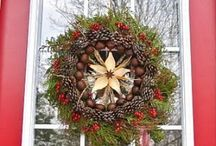 Door Wreaths / Wreaths of flowers, leaves, berries for celebration all year round. / by Lucy Pearce