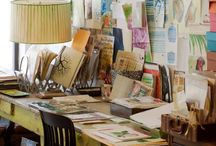 Artist's Creative Spaces / Ateliers, painting studios, artist workspaces, creative spaces...