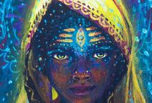Divine Feminine / Depictions of the Goddess, divine feminine, all-powerful She, sacred feminine, the Creatrix... ancient and modern