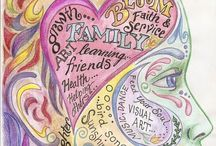 Healing Art Therapy / Inspirational art ideas and activities for adults. Art therapy.