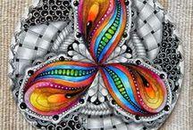 Zentangle / Zentangles, zen doodles, zendalas, doodles...