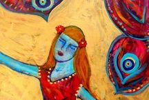 Art: Lucy H Pearce / Vibrant colourist, intuitive symbolist, energy artist. Specialising in the lost archetypes of the feminine. See blog and shop at http://www.dreamingaloud.net/