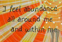 Manifest / Abundance, gratitude, positive thinking...