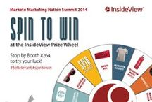 InsideView's Events & Giveaways for Marketing Nation Summit 2014 / All the fabulous events, giveaways and general fun for #MkgtNation14    #BeRelevant / by InsideView Inc.