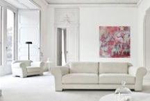 my art in situ / Arworks by Lorette C. Luzajic in various interior settings.