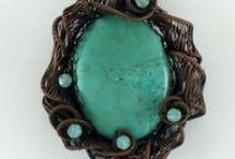 Pendants that I have made  / Jewelry, pendants, art, stones, stones, jewelry, crystals, art, turquoise, copper, silver, necklace,  / by Constance Brosnan