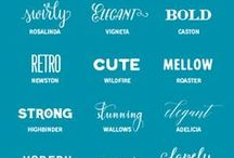 Fonts / Fonts and typography