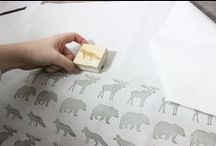 Stamping + Printing / Rubberstamps and printing ideas
