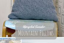 Pillows & Cushions / Homemade, upcycled, repurposed Pillows and cushions for the home