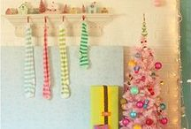 Christmas: Colorful Decor / pretty and unique colorful Christmas decor for  everyone who's tired of red and green. Ideas on how to make other colors such as pinks, purples, white, and blues work for your holiday decor. / by Miranda Lawton