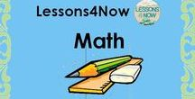 Lessons4Now Math / This board contains useful activities, materials, and content for everyone interested in teaching or learning about math!