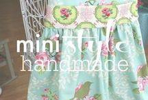 mini style // handmade children's clothes / Stylish handmade children's clothes. / by The Shopping Mama